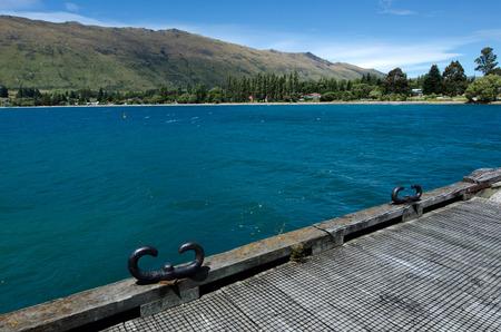 wakatipu: Kingston old pier on lake Wakatipu in the south Island, New Zealand.