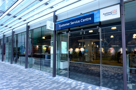 australasia: AUCKLAND - AUG 21 2015:Auckland Council customer service centre.Its the largest council in Australasia, with a 3 billion annual budget, 29 billion of ratepayer equity, and approximately 8,000 staff