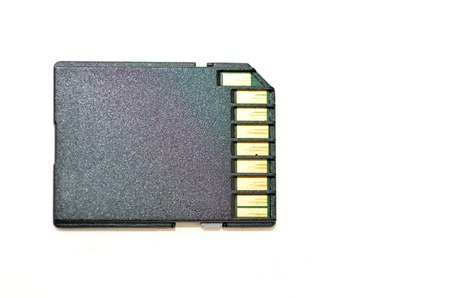 memory card: Memory card - Flash card against white background. copy space.