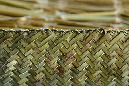 Maori weven kunstwerk achtergrond structuur. Stockfoto