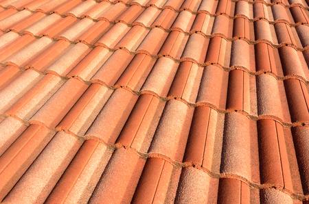 spanish style: Spanish style ceramic tile roof. Background texture Stock Photo