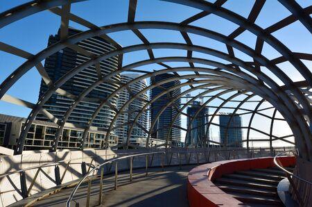 webb: Webb Bridge at Melbourne Docklands in Melbourne, Australia.