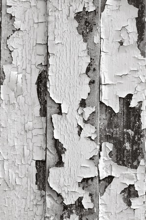 decrepit: Chipped old paint background texture. Vertical(BW) Stock Photo