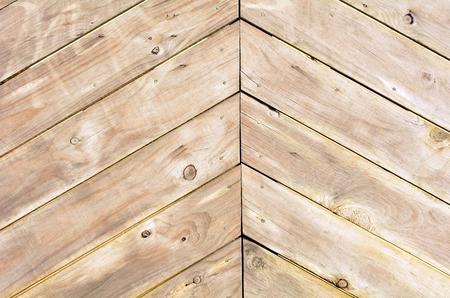 triangle shape: Triangle shape of empty wood planks background texture. Stock Photo