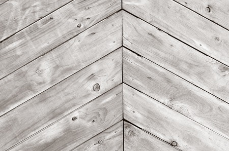 triangle shape: Triangle shape of empty wood planks background texture. (BW)