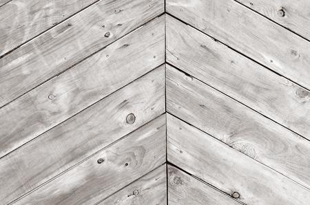triangle shape: Triangle shape of empty wood planks background texture. (BW)