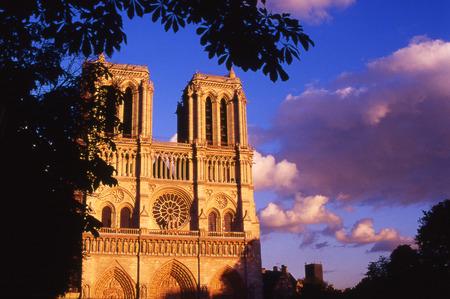 vierge marie: The Notre Dame Church in Paris, France. Banque d'images