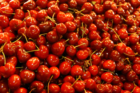 objects: Cherries, objects on white .