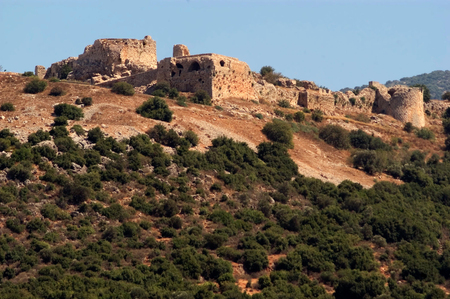 crusade: Nimrod Fortress at the Golan Heights, Israel.