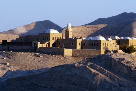nabi: Nabi Musa, the grave place of moses the prophet in Juda Desert, Israel. Stock Photo