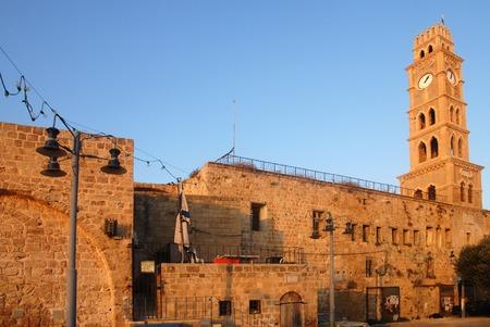 acre: Ottoman landmark building - Han El-Umdan in Acre Akko, Israel.