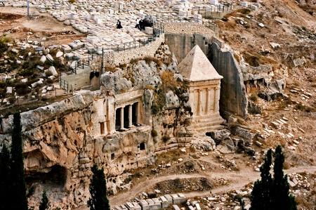 mount of olives: Zechariah tomb in Mount of Olives in Jerusalem, Israel.