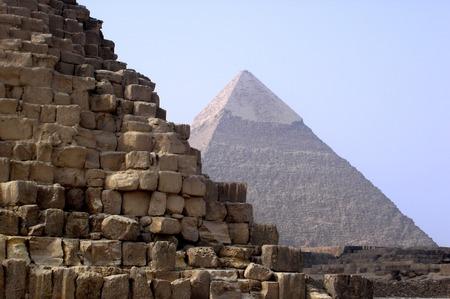 chephren: The Great Pyramids of Gizeh, Egypt.