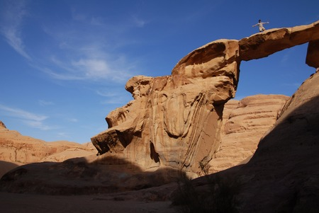 rock arch: Natural Rock Arch in Wadi Rum.