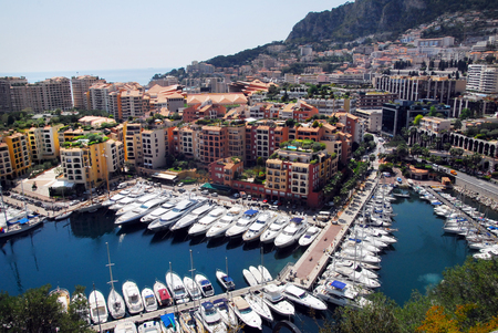 french ethnicity: Panorama view from the Princes Palace and luxury yachts in Monaco