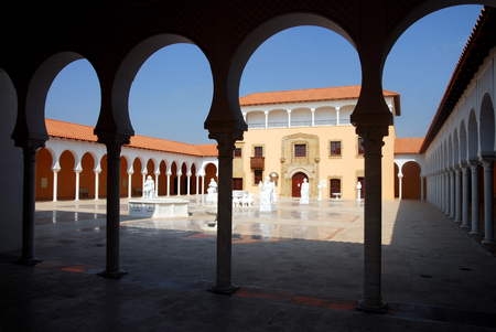 ralli: CAESAREA - AUGUST 23: The Ralli Museum (Recanati) on August 23 2007 in Caesarea Israel..Its houses a large collection of South American art and several Salvador Dalí originals.