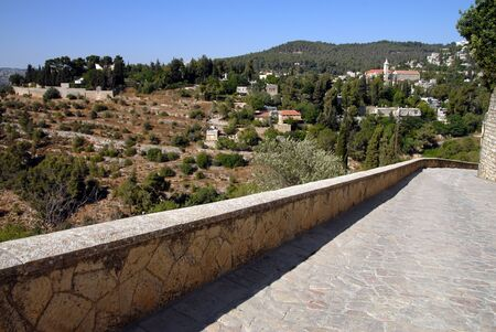 ein: Ein Karem Village in Jerusalem Israel.