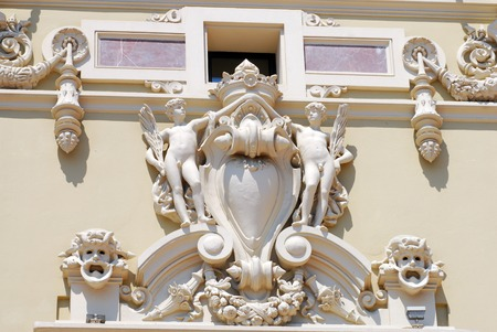 monte carlo: Architecture, statues and decorations in Monaco Monte Carlo
