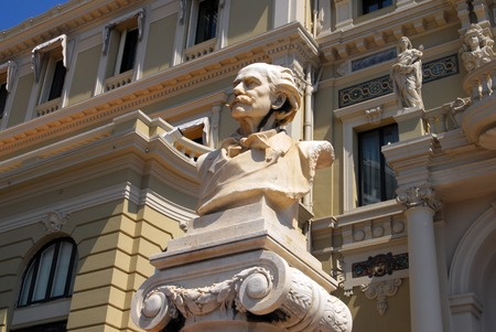 french ethnicity: Architecture, statues and decorations in Monaco Monte Carlo