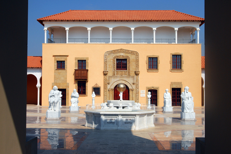ralli: CAESAREA - AUGUST 23: The Ralli Museum Recanati on August 23 2007 in Caesarea Israel..Its houses a large collection of South American art and several Salvador Dal originals.