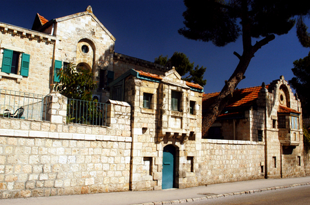 the prophets: The historical Tabor House in the Street of the Prophets in Jerusalem, Israel.