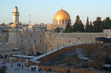 kotel: The Kotel Wailing Western Wall and Temple Mount in Jerusalem, Israel. Editorial