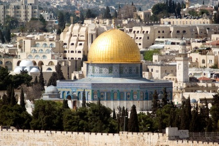 The Golden Dome Mosque on Temple Mount Jerusalem, Israel.