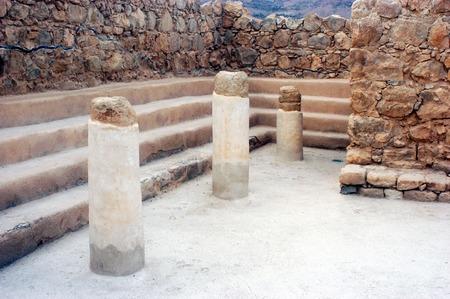 masada: The Synagogue of Masada Fortress Israel.