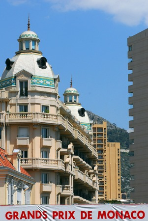 french ethnicity: Cityscape of Monaco  Monte Carlo. Editorial