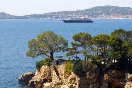 french riviera: Landscape view of the  French Riviera, France. Stock Photo