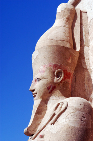 thebes: The Great Temple of Hatshepsut in Luxor, Egypt Stock Photo