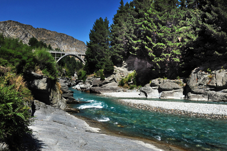 exhilaration: River in Queenstown, south New Zealand.