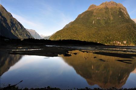 fiordland: Landscape view of Fiordland, southern New Zealand.