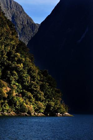 fiordland: Landscape view of Fiordland National Park, southern Island, New Zealand.