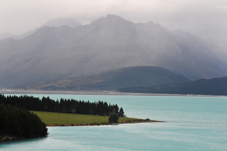 tekapo: Scenic view of lake tekapo, New Zealand.