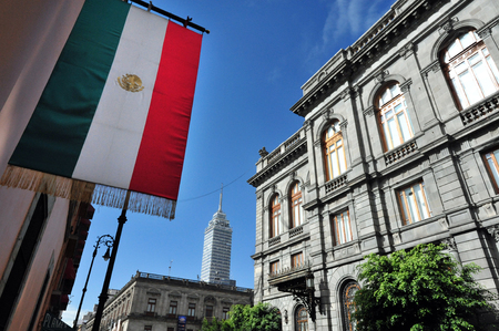 The Senate of Mexico building in Mexico City, Mexico. 版權商用圖片 - 47617106