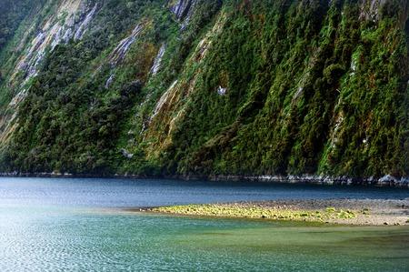 fiordland: Landscape view of Fiordland, southern New Zealand. Stock Photo