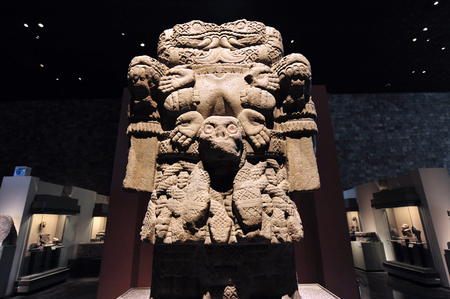 anthropological: Archaeological and anthropological artifacts from the pre-Columbian heritage of Mexico in Mexican National Museum of Anthropolog the Mexico City, Mexico.