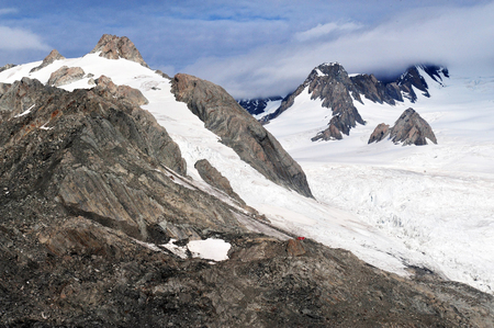 franz: Aerial view of Fox Glacier on the west coast of New Zealand. Stock Photo