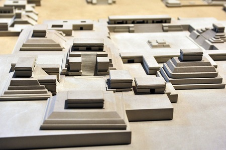 mesoamerica: Model of Tenochtitlán, at the National Museum of Anthropolog in Mexico City, Mexico.