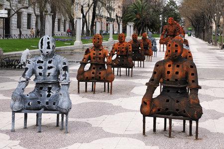 castellana: The Paseo del Prado in  Madrid Spain.