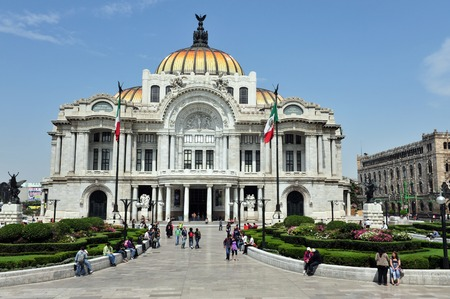 city: The Fine Arts PalacePalacio de Bellas Artes in Mexico City, Mexico.