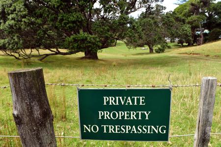 prohibido el paso: No entry sign on Waiheke Island, New Zealand.