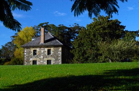 aotearoa: Kerikeri Stone Store, historic museum and period working store. 1832, New Zealands oldest stone building, Kerikeri, Far North District, Northland Region, New Zealand (NZ). Editorial