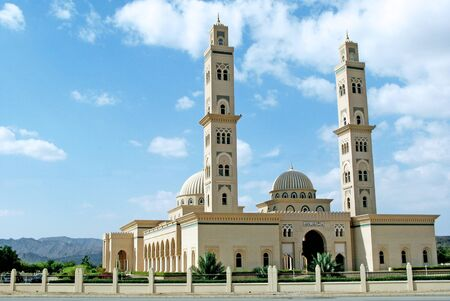 al: Al Qubrah Mosque in Muscat, Oman in the Middle East. Stock Photo
