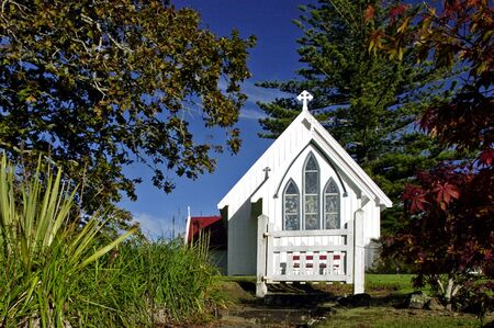 aotearoa: St James Church, Kerikeri, New Zealand. Stock Photo