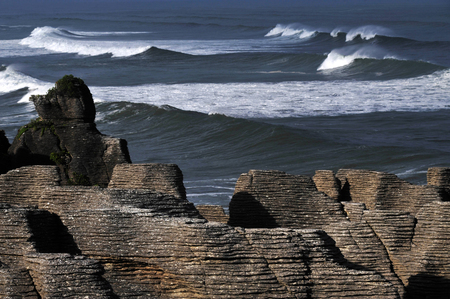 orificio nasal: Pancake rocks in Punakaiki, South island, New Zealand.