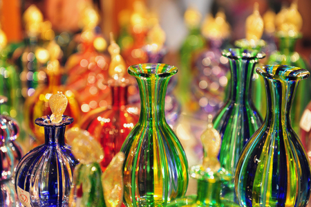 blowpipe: Glass making transition in Murano island in the Venetian Lagoon, northern Italy. Stock Photo