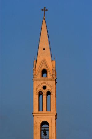 yaffo: Tower of the Greek Orthodox Church in Jaffa, Israel.