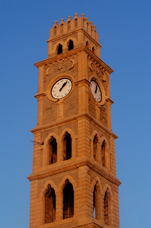 akko: Ottoman landmark building - Han El-Umdan in Acre Akko, Israel.